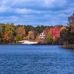 2018 Fall Colors around Lake Gitchegumee in Buckley, Michigan in October