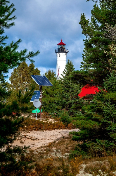 2018 Crisp Point Light on Lake Superior in October by...