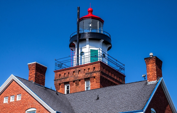 2018 Big Bay Point Lighthouse Overlooking Lake Superior...