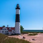 2018 Big Sable Point Lighthouse inside Ludington State Park in July  2018