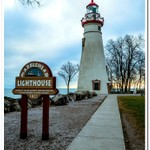 2018 Marblehead Lighthouse sitting on the Shore Line of Lake Erie on December 29, 2018