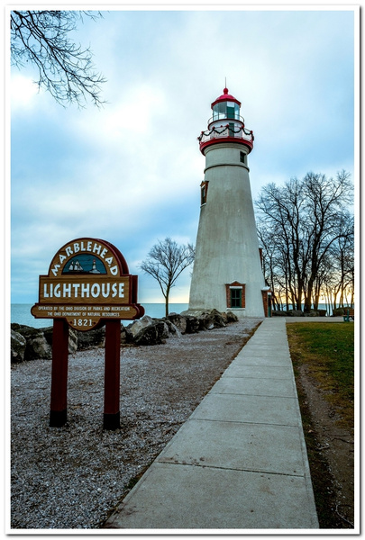 2018 Marblehead Lighthouse sitting on the Shore Line of...