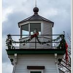 2018 Restored Port Clinton Pier Light sitting in a Park alongside Lake Erie in Port Clinton, Ohio