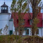 2018 Point Betsie Lighthouse on an overcast day in October