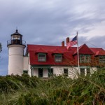 2018 Point Betsie Lighthouse on an overcast day in August