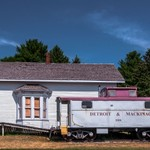 2018 Lincoln Railroad Depot on a nice Summer Day in July