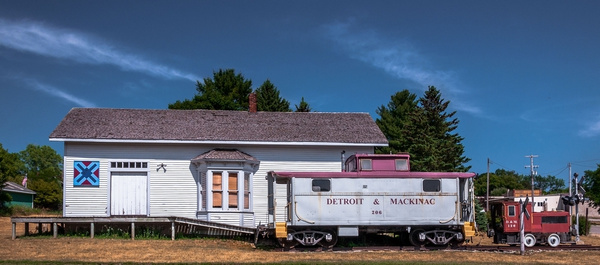 2018 Lincoln Railroad Depot on a nice Summer Day in July...