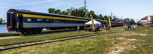 2019 Steam Train Rides @ The Cadillac Car Show in...