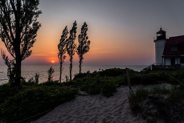 Sunset @ Point Betsie Lighthouse by SDNowakowski