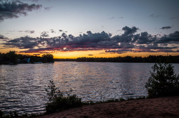 2019 Sunsets over Lakes in Northern Michigan by...
