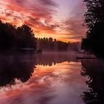 2019 Sunrise & Sunset Pics from Lake Gitchegumee in Buckley, Michigan