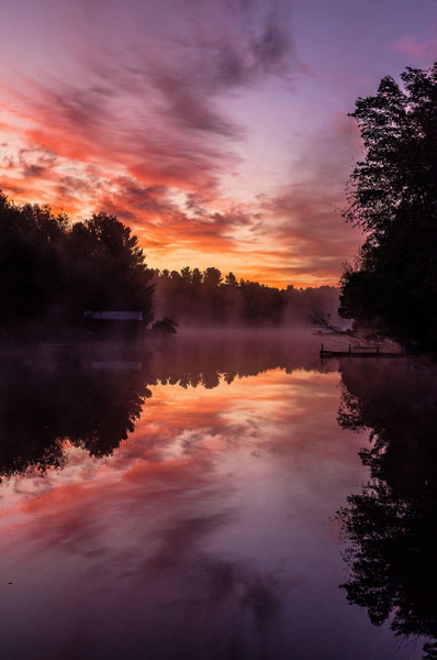 2019 Sunrise & Sunset Pics from Lake Gitchegumee in...