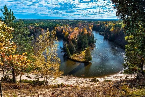 2019 Manistee River Fall Colors 2 Oct. by SDNowakowski