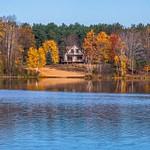 Fall Colors across Lake Gitchegumee
