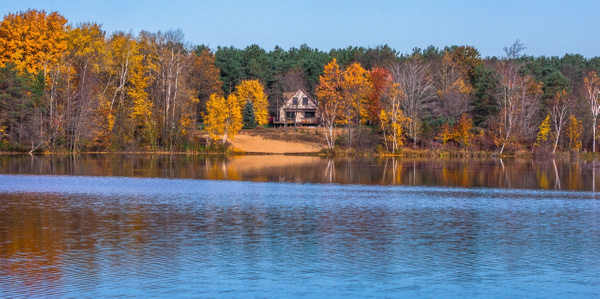 Fall Colors across Lake Gitchegumee by SDNowakowski