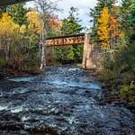 2019 Fall Colors along Falls River in L'Anse, Michigan in October