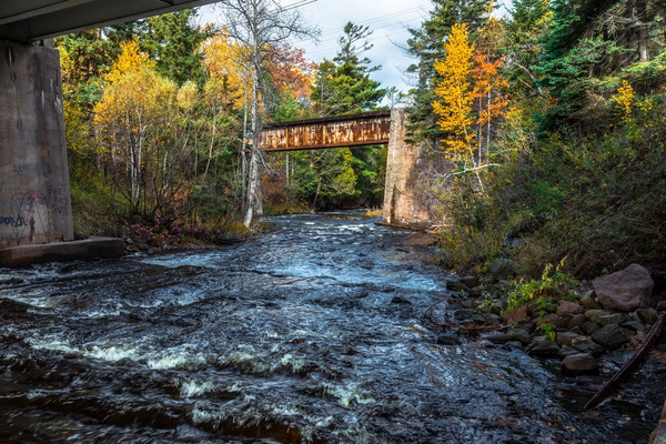 2019 Fall Colors along Falls River in L'Anse, Michigan...