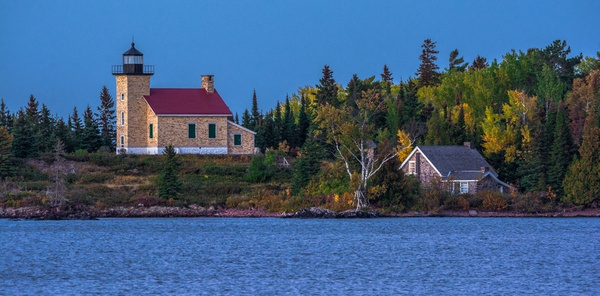 2019 Copper Harbor Lighthouse @ Sunset on the Tip of the...