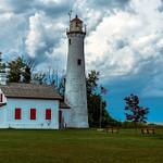 2019 Sturgeon Point Lighthouse on Lake Huron in Harrisville, Michigan in August.