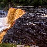 2017 Tahquamenon Upper Falls located Inside Tahquamenon Falls State Parkon an overcast day in August