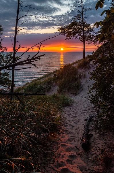 Sunset over Lake Michigan by SDNowakowski
