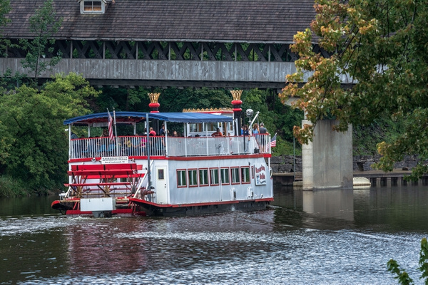2017 Frankenmuth River Boat 'Bavarian Bell' cruising the...