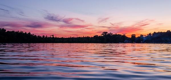 2017 Kayaking Pinckney State Recreation Area at Sunset...
