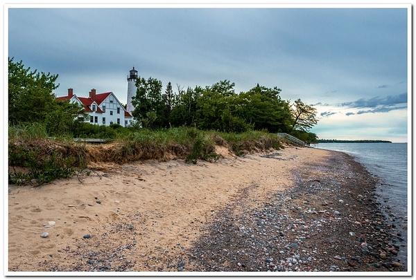2020 Point Iroquois Lighthouse Pano Pics by SDNowakowski