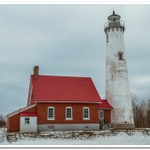 2021 Tawas Point Lighthouse in January