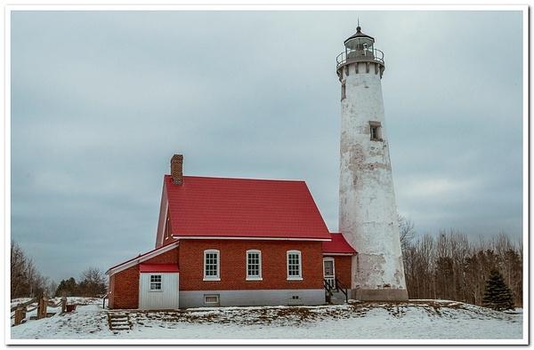 2021 Tawas Point Lighthouse in January by SDNowakowski