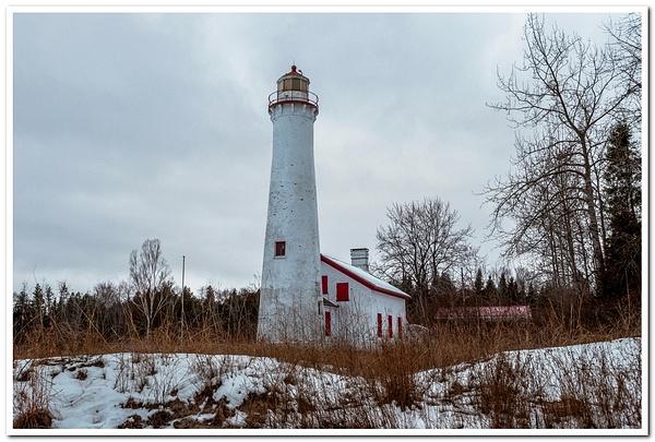 2021 Sturgeon Point Lighthouse in January by SDNowakowski