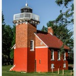 2018 Sand Point Lighthouse in Baraga, Michigan in July