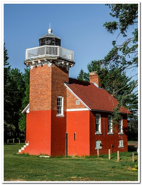 2018 Sand Point Lighthouse in Baraga, Michigan in July...