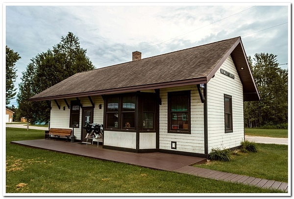 2020 Brimley Railroad Depot and Museum Display by...