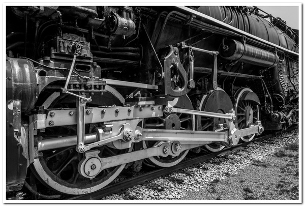 2019 P&M #1223 Railroad Display in Grayscale by...