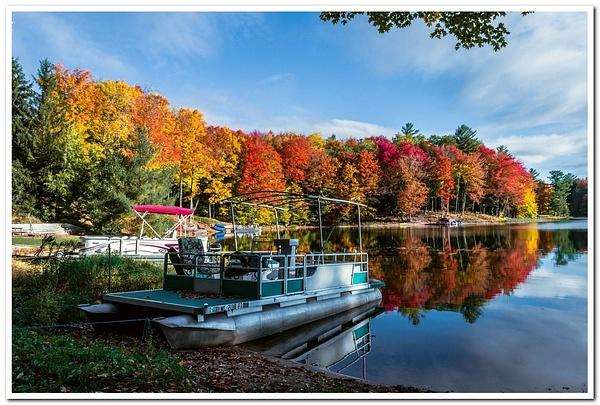 2020 Fall Colors on Dayhuff Lake by SDNowakowski