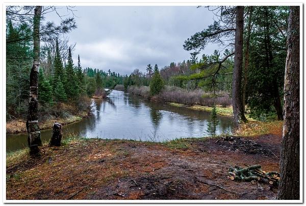 Manistee River Campsite by SDNowakowski