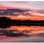 2021 Spring Sunrise & Sunset on Dayhuff Lake in Boon, Michigan