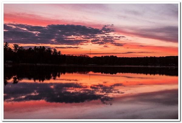 2021 Spring Sunrise & Sunset on Dayhuff Lake in...
