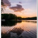 2021 June Sunset on Dayhuff Lake in Boon, Michigan