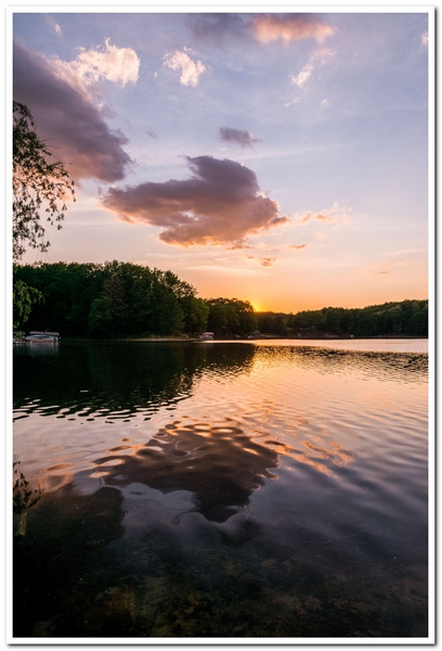 2021 June Sunset on Dayhuff Lake in Boon, Michigan by...