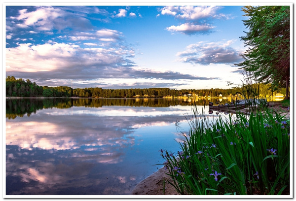 2021 Sunset Cloud Formations over Dayhuff Lake on June...