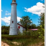 2020 Sturgeon Point Lighthouse on a calm summer day in June