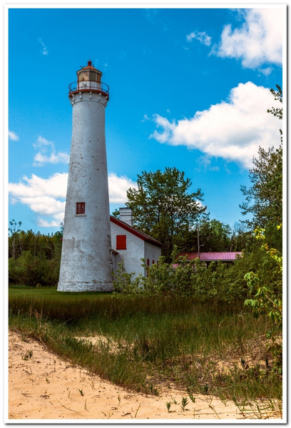 2020 Sturgeon Point Lighthouse on a calm summer day in...