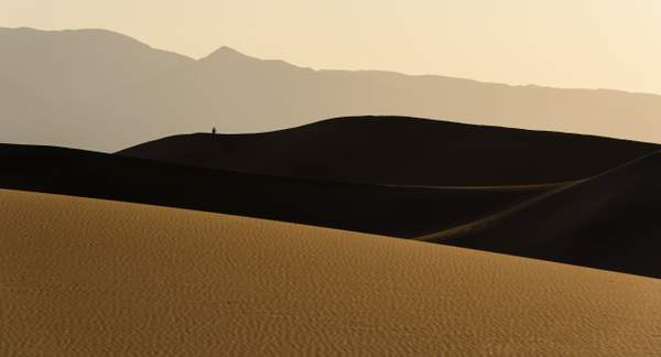 hiker enjoying dunes