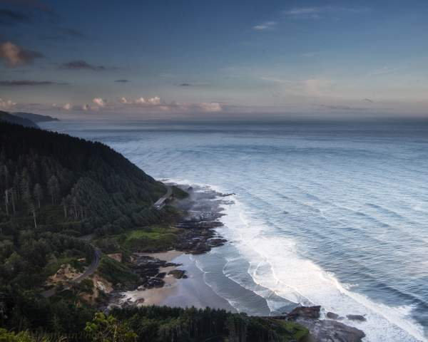 Looking South At Dawn from Cape Perpetua
