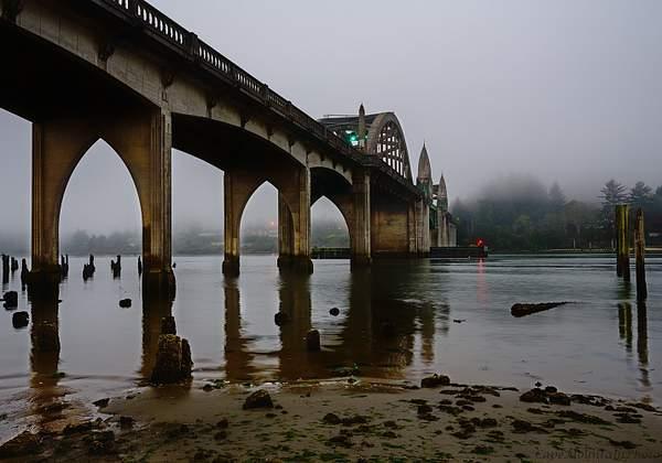Under the Bridge With Fog