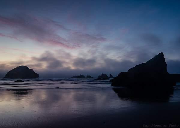 Bandon Rocks At Twilight