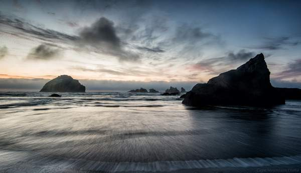 Lines In the Sand At Bandon Rocks