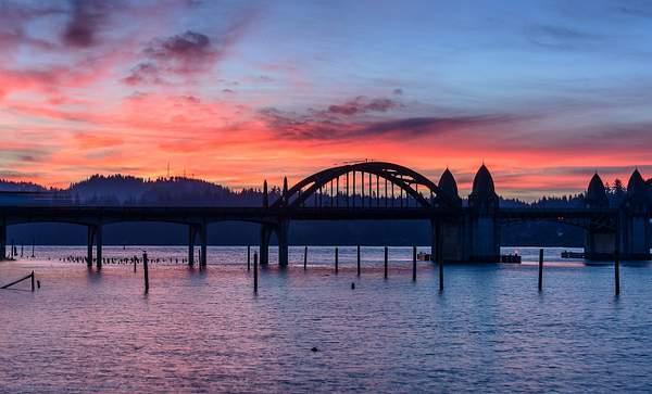 Sunrise Behind the Bridge